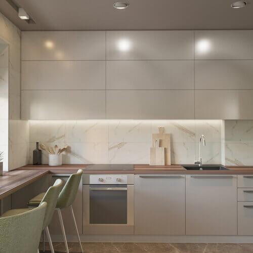 дизайн квартиры кухня в контемпорари