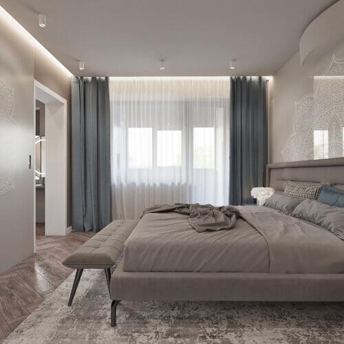 дизайн квартиры в контемпорари интерьер спальни 4к