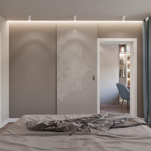 дизайн квартиры в контемпорари интерьер спальни