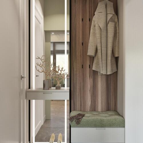 дизайн квартиры четырехкомнатной в контемпорари прихожая
