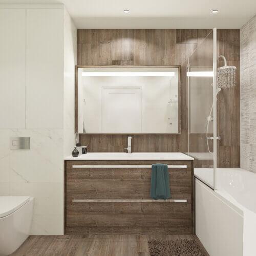 дизайн квартиры четырехкомнатной в контемпорари интерьер ванная