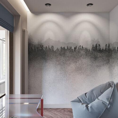 дизайн квартиры в контемпорари интерьер кабинета