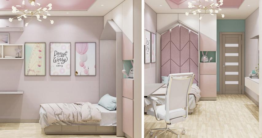 заказать дизайн интерьера детской комнаты для девочки