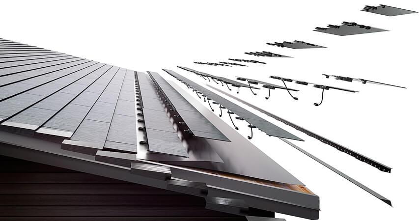 солнечная система крыши для загородного дома от Tesla и SolarCity