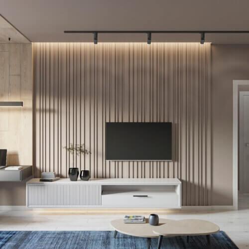 дизайн двухкомнатной квартиры в минимализме