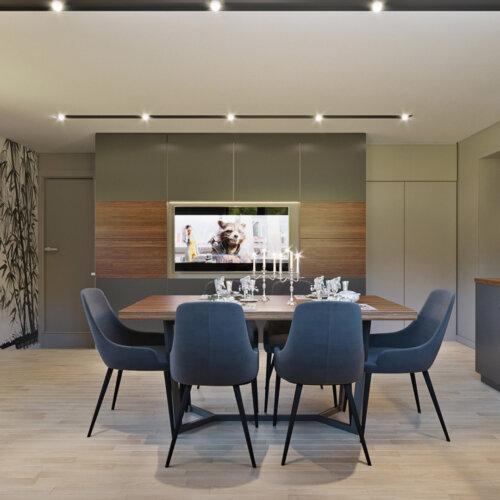 Дизайн зон дома выполнен в стиле минимализм. Пастельные тона и арт решения. Удобная эргономика, зонирование это настроение дизайна дома. Модульная разборная конструкция беседки оформлена в урбанистическом эко стиле с отделкой деревом и текстурой под бетон.