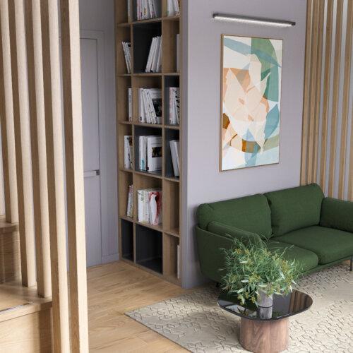 дизайн дома 2й этаж место для чтения