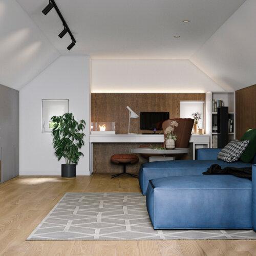 дизайн дома 3й этаж зона отдыха