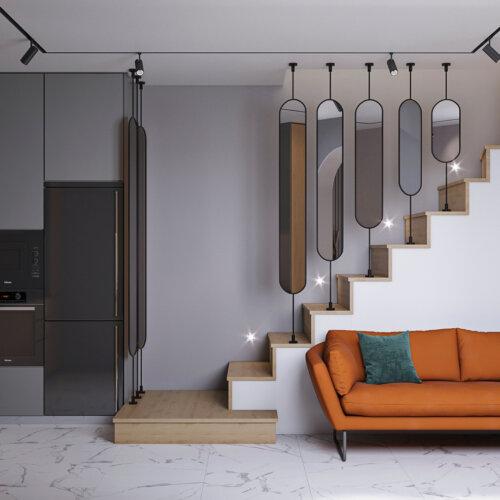 дизайн дома 1й этаж прихожая