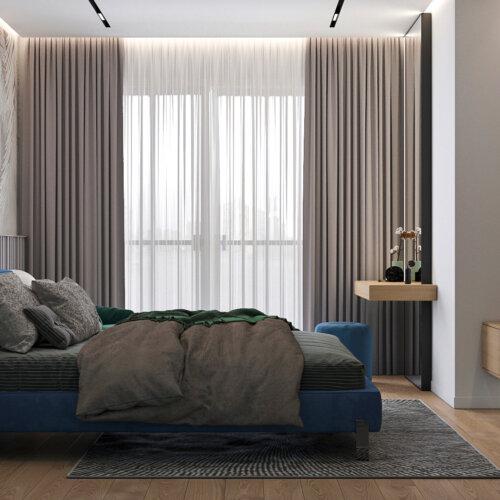 дизайн интерьера дома спальня
