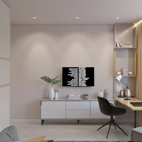 дизайн проект трехкомнатной квартиры детская