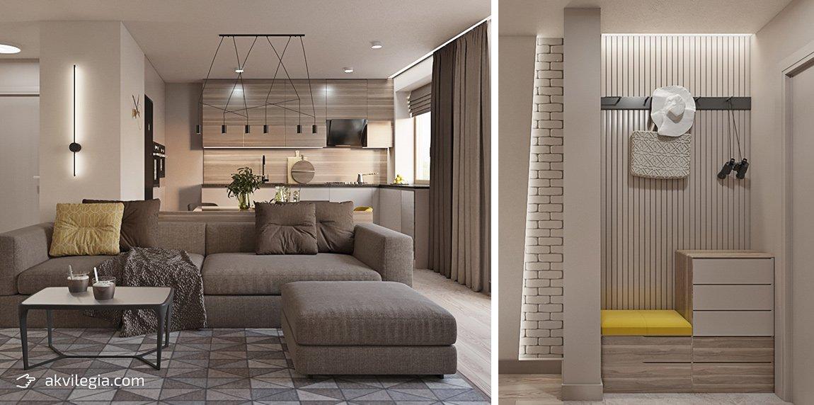 дизайнерский ремонт квартиры гостиная