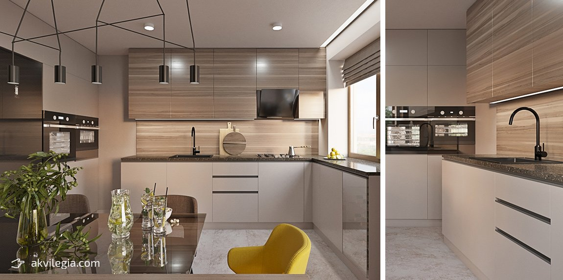 дизайнерский ремонт квартиры кухня