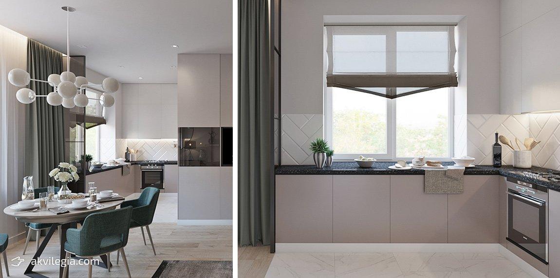дизайн проект квартиры кухня