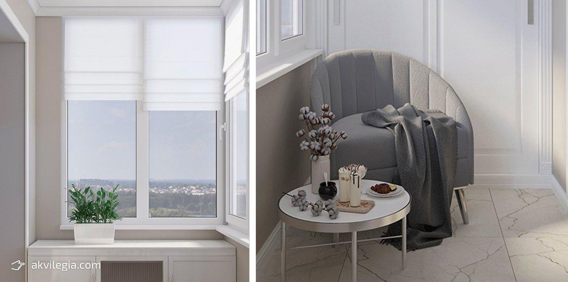 дизайн лоджии в однокомнатной квартире