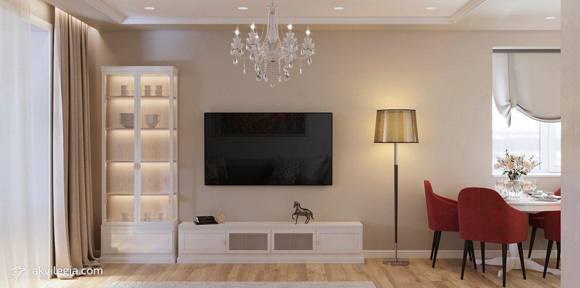 дизайн пространства в однокомнатной квартире