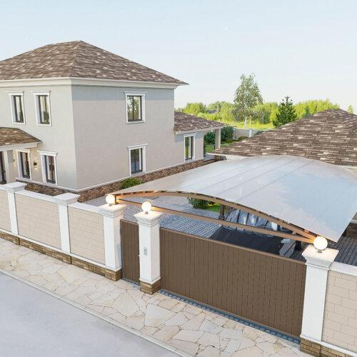 дизайн загороднего дома с гаражом Запорожье