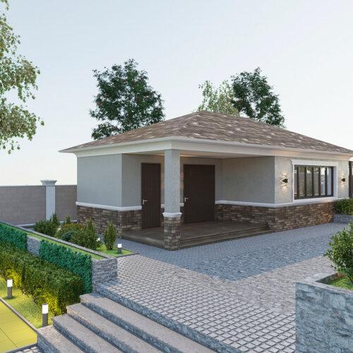 дизайн дома с гаражом Запорожье